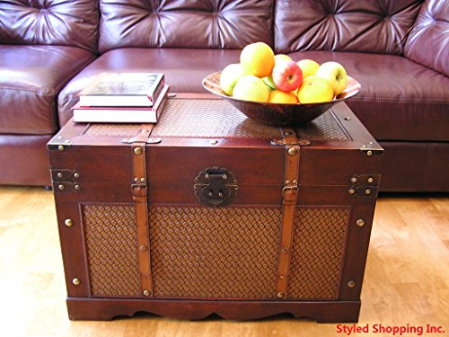 Boston Wood Chest Wooden Steamer Trunk - Large Trunk 2