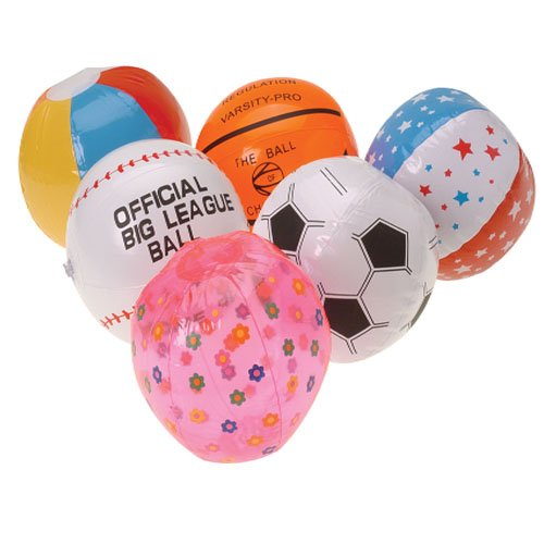 Inflatable Mini Beach Ball Assortment 25