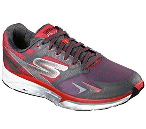 Skechers Men's GOrun Forza Running Shoe,Charcoal/Red,US 13 M