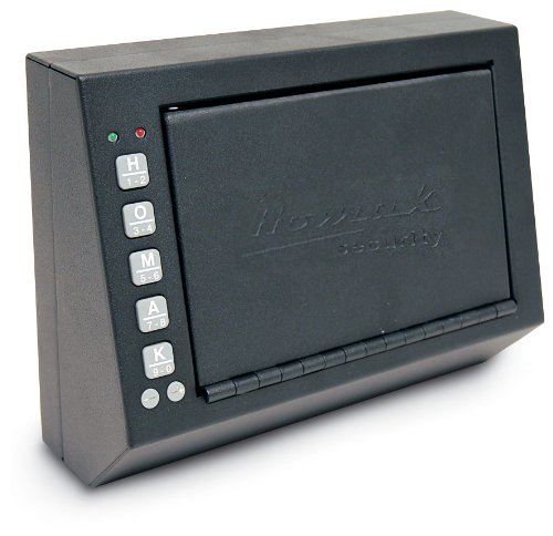 HOMAK HS10036683 Electronic Access Pistol Box, 10 X 3.5 X 7.5 Inch
