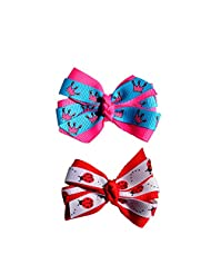 Princess Crown And Ladybug (Blue &red) Baby Girl Hair Clips Bow Hair Clips Toddler Hair Clips Hair Accessories...