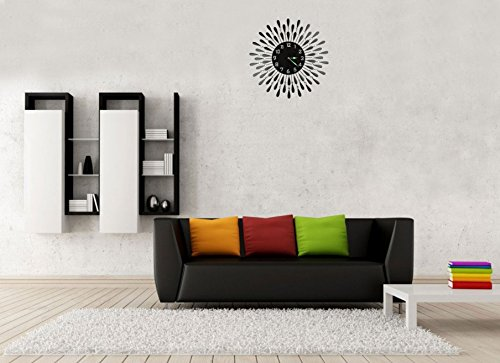Lulu Decor Black Drop Wall Clock : Lulu decor black drop wall clock decorative metal