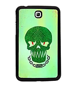 Fuson Premium 2D Back Case Cover Skull With Blue Background Degined For Samsung Galaxy Tab 3 T211 P3200