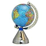 """Medio giratoria de escritorio del globo del mundo Tierra Ocean Blue Geografía vector de la decoración 9.7"""""""