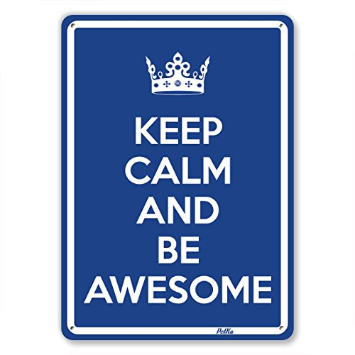 """Keep Calm And Be Awesome"" 10""X14"" Aluminum Sign"