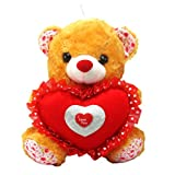 Tickles Brown Cute Teddy With Heart Stuffed Soft Plush Toy Love Girl 24 Cm