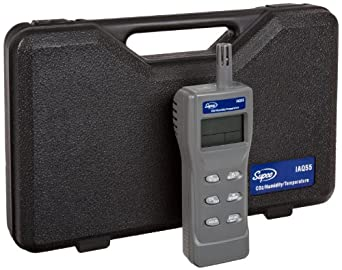 Supco IAQ55 Handheld Indoor Air Quality Monitor, 0 to 2000 ppm, 1 ppm Resolution, +/-75 ppm Accuracy
