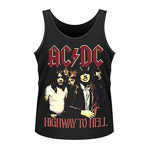 Official AC/DC-Highway To Hell-Canottiera da uomo, colore: nero Nero  nero