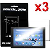 "[3-Pack] Fire HD 10 2015 Screen Protector - Fintie [Ultra-Clear] Screen Shield Protector for Amazon Fire HD 10 Tablet (will only fit Fire 7"" Display 5th Generation - 2015 release), Retail Package"