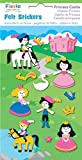 Fiesta Crafts Princess Castle Felt Stickers Pack of 6