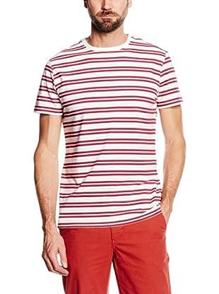 Cortefiel Camiseta Manga Corta (Crudo / Rojo)