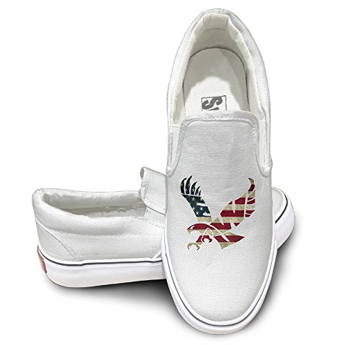 PTCY EWU Eagles Flag Casual Unisex Flat Canvas Shoes Sneaker 41 White (Smart Balance Popcorn compare prices)