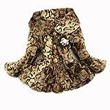 Girls Kids Baby Toddler Fur Leopard Print Winter Coat Jacket Snowsuit Outwear (8#2-3 years)