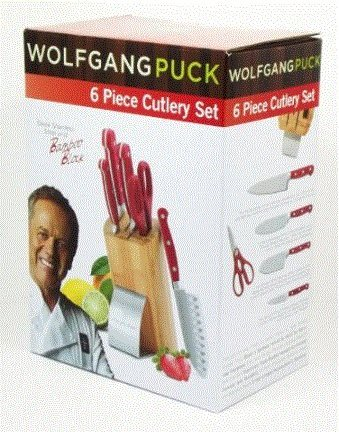Wolfgang Puck 6 Piece Cutlery Set, Red (Wolfgang Puck Knife compare prices)