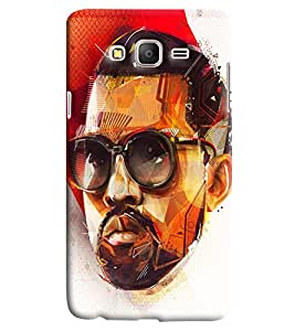 Blue Throat Man With Glares Printed Designer Back Cover/Case For Samsung Galaxy On 7
