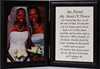 Black Picture/Photo Frame ~ Maid of Honor Gift