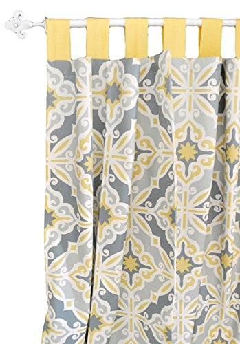 New Arrivals Starburst in Gold Curtain Panels, Starburst in Gold, 2 Count