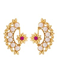 The Luxor Designer Pearl Stud Earrings For Women