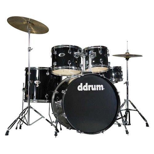 ddrum-d2-beginner-5-piece-drum-set-midnight-black