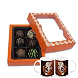 Chocholik Belgium Chocolate Gifts - Exceptional Combination Of Tempting Truffles With Diwali Special Coffee Mugs...