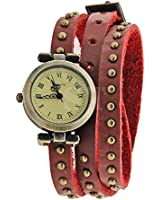 Ubesta New Classic elegant leather strap roma number dial quartz woman watch