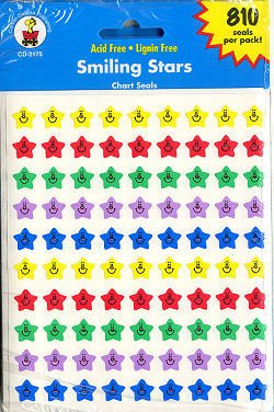 Chart Seal Sticker Set; 5 Designs; Assorted Colors/Styles; no. CD-1046