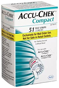 ACCU-CHEK Compact Mail Order Test Strips, 51-Count Box
