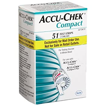 ACCU-CHEK Compact Test Strips are for testing glucose in whole blood.  For use with ACCU-CHEK Compact and ACCU-CHEK Compact Plus.