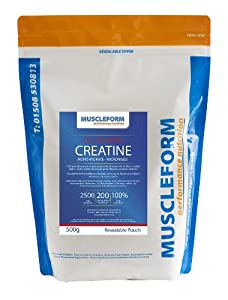 Muscleform Micropure Creatine Monohydrate 500g Re-sealable Pouch - 200 days (maintenance) supply - Fast Delivery