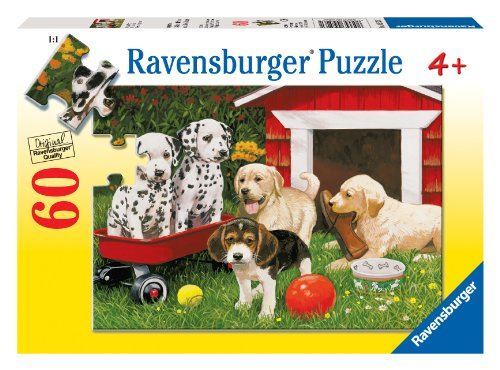 Ravensburger Puppy Party - 60 Piece Puzzle - 1