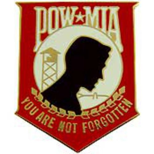 POW MIA Pin Red 1 1/2