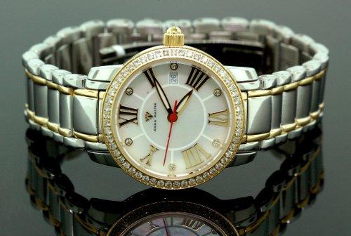 AQUA MASTER w-319d - Reloj para mujeres, correa de metal