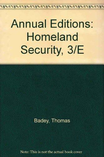 Annual Editions: Homeland Security, 3/e