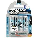 ANSMANN 5030842 Mignon AA Typ 2700mAh hochkapazitiv Profi/Vielanwender Digital Foto Akkubatterie 4er Pack