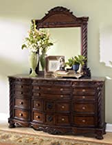 Hot Sale Dark Brown Dresser with Mirror by Ashley Furniture