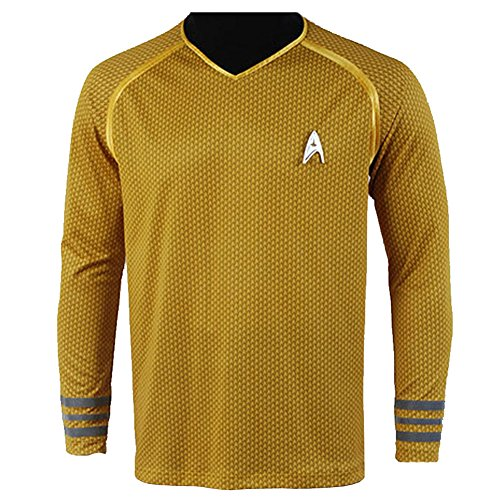 [CosplaySky Star Trek Into Darkness Captain Kirk Shirt Uniform Costume XX-Large] (Star Trek Uniform Shirts)
