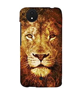 Lion 3D Hard Polycarbonate Designer Back Case Cover for Micromax Canvas Android A1 AQ4501 :: Micromax Canvas Android A1