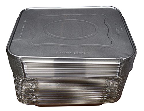 Green Direct Half Size Pans with Lids Perfect Aluminum Cake Pan with Lid Great to be used as a roasting pan in your kitchen, Comes in a pack of 30 pans and lids (Deep Freeze Organizer compare prices)