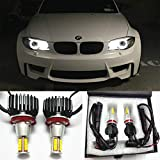 GFJMC 63217760782 Angel Eyes H8 160W CREE LED Marker Halo Light Error Free Canbus CREE LED Marker Halo Light for BMW E82 E90 E92 E60 E61 E63 E89 X6