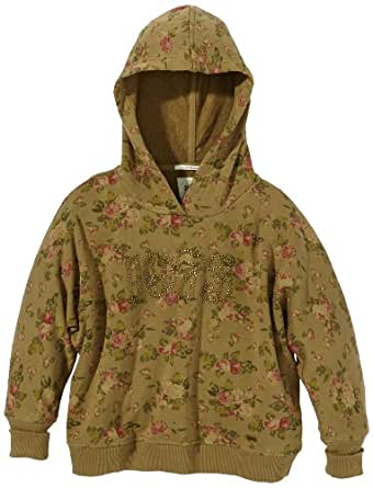 Pepe Jeans Pull À capuche Manches longues Fille - Vert - Grün (716 ARMY) - FR : 7 ans (Taille fabricant : 122)