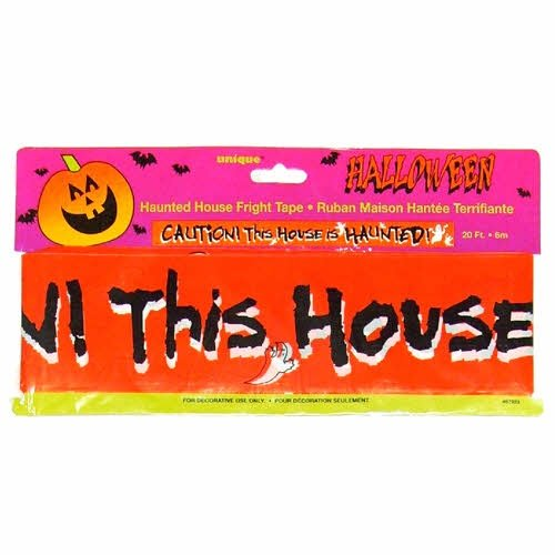 Caution This House Is Haunted Halloween Fright Tape - 1