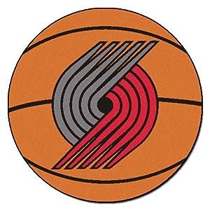 FANMATS NBA Portland Trail Blazers Nylon Face Basketball Rug by Fanmats