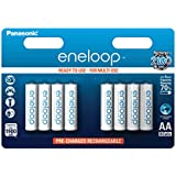 Panasonic eneloop BK-3MCCE/8BE Ready-to-Use AA Batteries - Ni-Mh - 1,900 mAh - Pack of 8