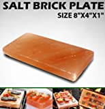 Salt Tile Himalayan 8x4x1 Set of 2 for Grilling Cooking Serving FDA Gourmet Organic and Pure