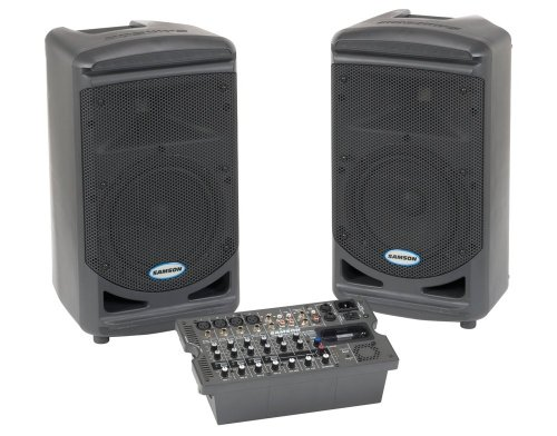 Samson SAXP308I Expedition Portable 300W Lightweight PA System with iPod Dock