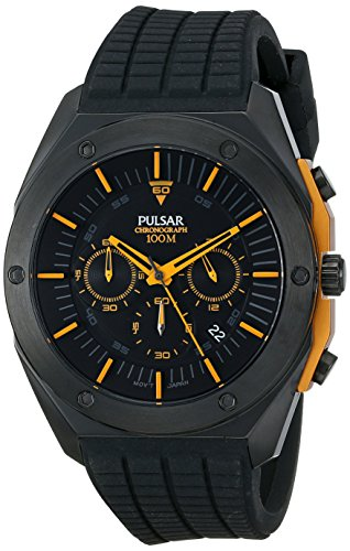 Pulsar Chronograph Silicone - Black Men's watch #PT3517