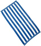 Northpoint Luxury Cabana Stripe Beach Towel, Blue