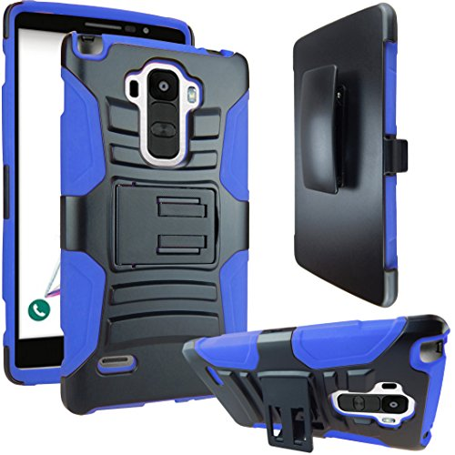 Click to buy E-Time LS770 Armor Series Heavy Dual Layer Holster Case Kick Stand with Locking Belt Swivel Clip for LG G Stylo Bundle with Screen Protector and Stylus - Black, Blue - From only $144.99