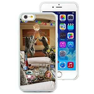 6 Phone cases, Funny Celebration Humor Animals White iPhone 6 4.7 inch TPU cell phone case