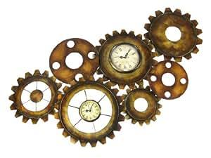 Amazon.com: Click Clock Antiques Finished Metal Wall Decor